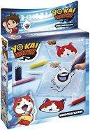 """Създай сам - Стикери за стъкло - Творчески комплект от серията """"Yo-kai Watch"""" -"""