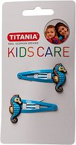 """Детски фиби за коса с морски кончета - Комплект от 2 броя от серията """"Kids Care"""" - мляко за тяло"""