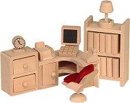 Кабинет - Дървени мебели за кукленска къща - играчка