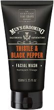 "Scottish Fine Soaps Men's Grooming Thistle & Black Pepper - Измиващ гел за лице за мъже от серията ""Men's Grooming"" - маска"