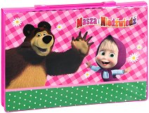 Комплект за рисуване - Маша и Мечока - В пластмасово куфарче