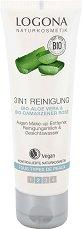 Logona 3 in 1 Reinigung - Измиващ гел за лице с био алое вера и био розова вода -