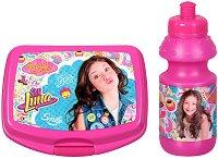 Комплект бутилка и кутия за храна - Soy Luna - детски аксесоар