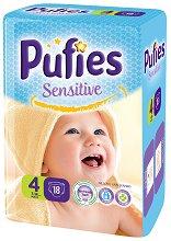 Pufies Sensitive 4 - Maxi - Пелени за еднократна употреба за бебета с тегло от 7 до 14 kg -