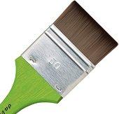 Плоска четка от синтетичен косъм за акварел, темпера и акрил - продукт