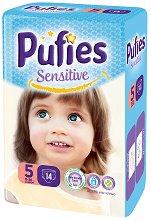 Pufies Sensitive 5 - Junior - Пелени за еднократна употреба за бебета с тегло от 11 до 20 kg - продукт
