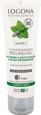 Logona Peeling-Gel - Ексфолиращ гел за лице с био мента и салицилова киселина -