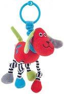 Мека дрънкалка - Кученце - Играчка за количка или легло -