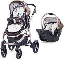 Бебешка количка 2 в 1 - Nina 2017 - С 4 колела -