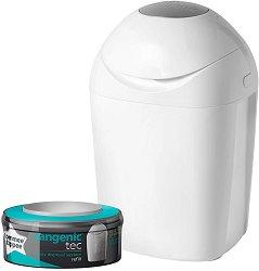 Хигиенен кош за пелени - Sangenic Tec Tub: White - Комплект с 1 брой резервна касета -