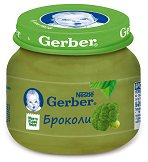 """Nestle Gerber - Пюре от броколи - Бурканче от 80 g от серията """"Моето първо"""" -"""