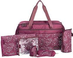 Чанта - Traveller Bag: Cherry - Аксесоар за детска количка с подложка за преповиване - продукт