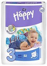 Bella Baby Happy - Midi 3 - Пелени за еднократна употреба за бебета с тегло от 5 до 9 kg -