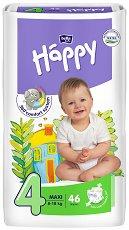 Bella Baby Happy - Maxi 4 - Пелени за еднократна употреба за бебета с тегло от 8 до 18 kg -