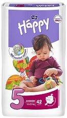 Bella Baby Happy - Junior 5 - Пелени за еднократна употреба за бебета с тегло от 12 до 25 kg -