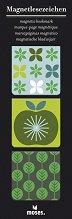 Магнитни разделители за книги - Ябълка - Комплект от 3 броя -