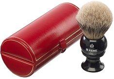 Голяма четка за бръснене с косъм от сребрист язовец -