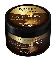 Visage Keratin & Argan Hair Mask - Маска за увредена коса с кератин и арган - балсам
