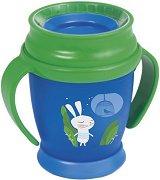 Преходна чаша с дръжки - Follow the Rabbit: 210 ml - За бебета над 9 месеца -