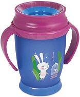 Преходна чаша с дръжки - Follow the Rabbit: 250 ml - За бебета над 12 месеца -