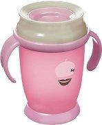 Преходна чаша с дръжки - Retro Baby: 210 ml - За бебета над 9 месеца - чаша