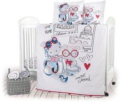 Спален комплект за бебешко креватче - 4 части -