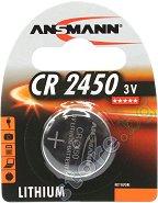 Бутонна батерия CR2450 - Литиева 3V - 1 брой -