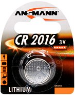 Бутонна батерия CR2016 - Литиева 3V - 1 брой -