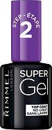 Rimmel Super Gel Top Coat Step 2 - Топ лак за нокти с гел ефект - лак