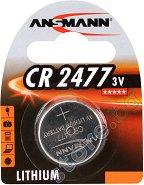 Бутонна батерия CR2477 - Литиева 3V - 1 брой -