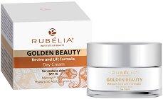 Rubelia Golden Beauty Day Cream - Дневен крем срещу умора за зряла кожа за лице, деколте и шия -