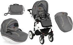 Бебешка количка 2 в 1 - Mia - С 4 колела -