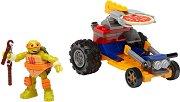 """Микеланджело - Изстрелване на пица - Детски конструктор от серията """"Костенурките нинджа"""" - играчка"""