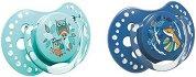 Залъгалки от силикон - Folky: Бухалчета и лисица - Комплект от 2 броя - продукт
