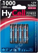 Батерия AAA - Акумулаторна NiMH (HR03) 1000 mAh - раница