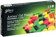 """Маслени пастели с флуоресцентен отблясък - Artists Soft Pastels Fluorescent - Комплект от 12 цвята от серията """"Gallery"""""""