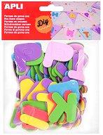 Стикери от EVA пяна - букви - Комплект от 104 броя
