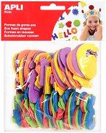 Стикери от EVA пяна - цифри - Комплект от 120 броя