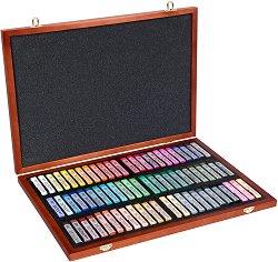 """Сухи пастели в дървена кутия  - Artists' Soft Pastels - Комплект от 70 цвята от серията """"Gallery"""""""