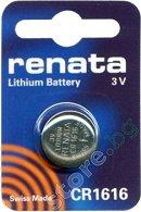 Бутонна батерия CR1616 - Литиева 3V - 1 брой -