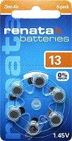 Батерия ZA13 - Цинк-Въздушна 1.4V - 6 броя -