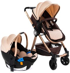 Бебешка количка 2 в 1 - Allure - С 4 колела -