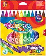 Флумастери - Комплект от 12 цвята