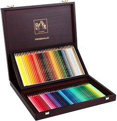"""Цветни акварелни моливи в дървена кутия - Prismalo - Комплект от 80 цвята от серията """"Artist"""""""