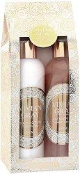 "Vivian Gray Romance Vanilla & Patchouli Luxury Beauty Set - Подаръчен комплект с козметика за тяло от серията ""Romance Vanilla & Patchouli"" - шампоан"