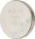 Бутонна батерия AG10 / 389A - Алкална 1.55V - 10 броя -