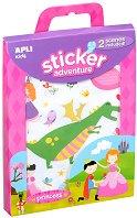 Разкажи забавни истории - Приключения с принцеси - Творчески комплект със стикери - играчка