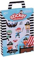 Разкажи забавни истории - Приключения с пирати - Творчески комплект със стикери -