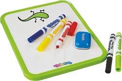 Детска дъска  за рисуване - Комплект с 5 цвята и гъба