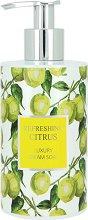 Vivian Gray Refreshing Citrus Luxury Cream Soap - Течен сапун в диспенсър с аромат на цитруси и зелен чай -